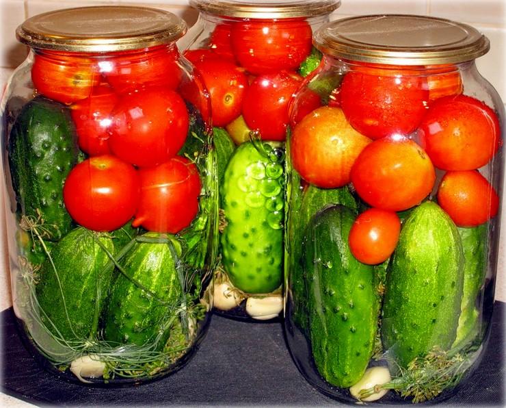 Солёные огурцы с помидорами на зиму рецепты